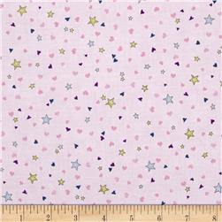 Rainbow Dreams Stars & Hearts Light Purple