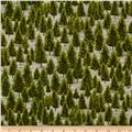 Mountain Elk Pine Trees Green