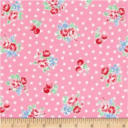 Lecien Flower Sugar Dots Cherries Pink