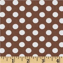Kaufman Spot On Medium Dot Brown