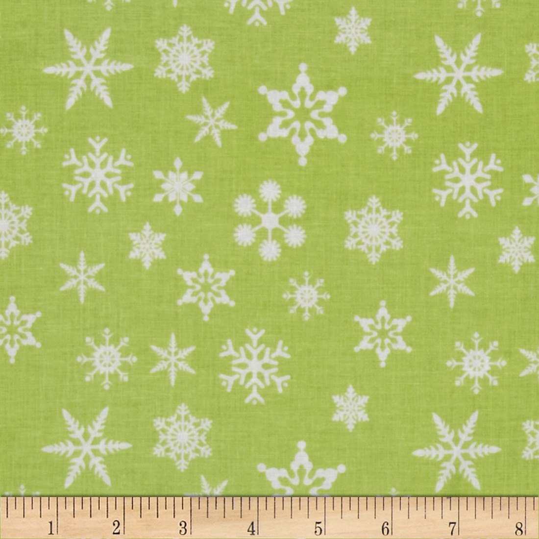 Riley Blake Holiday Banners Snowflakes Green