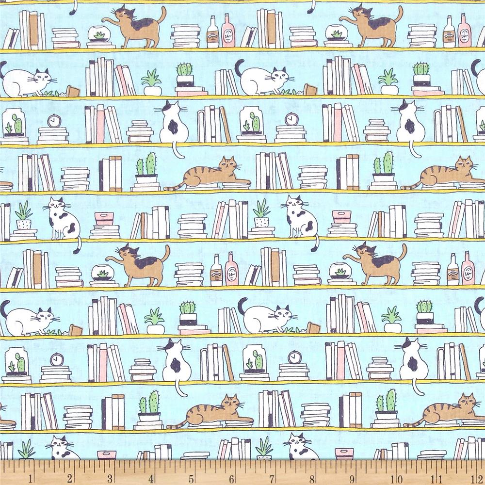 Cosmo Good Morning Cats & Books Blue