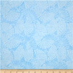 Island Batik Raindrops Keep Falling on My Head Fans Light Blue
