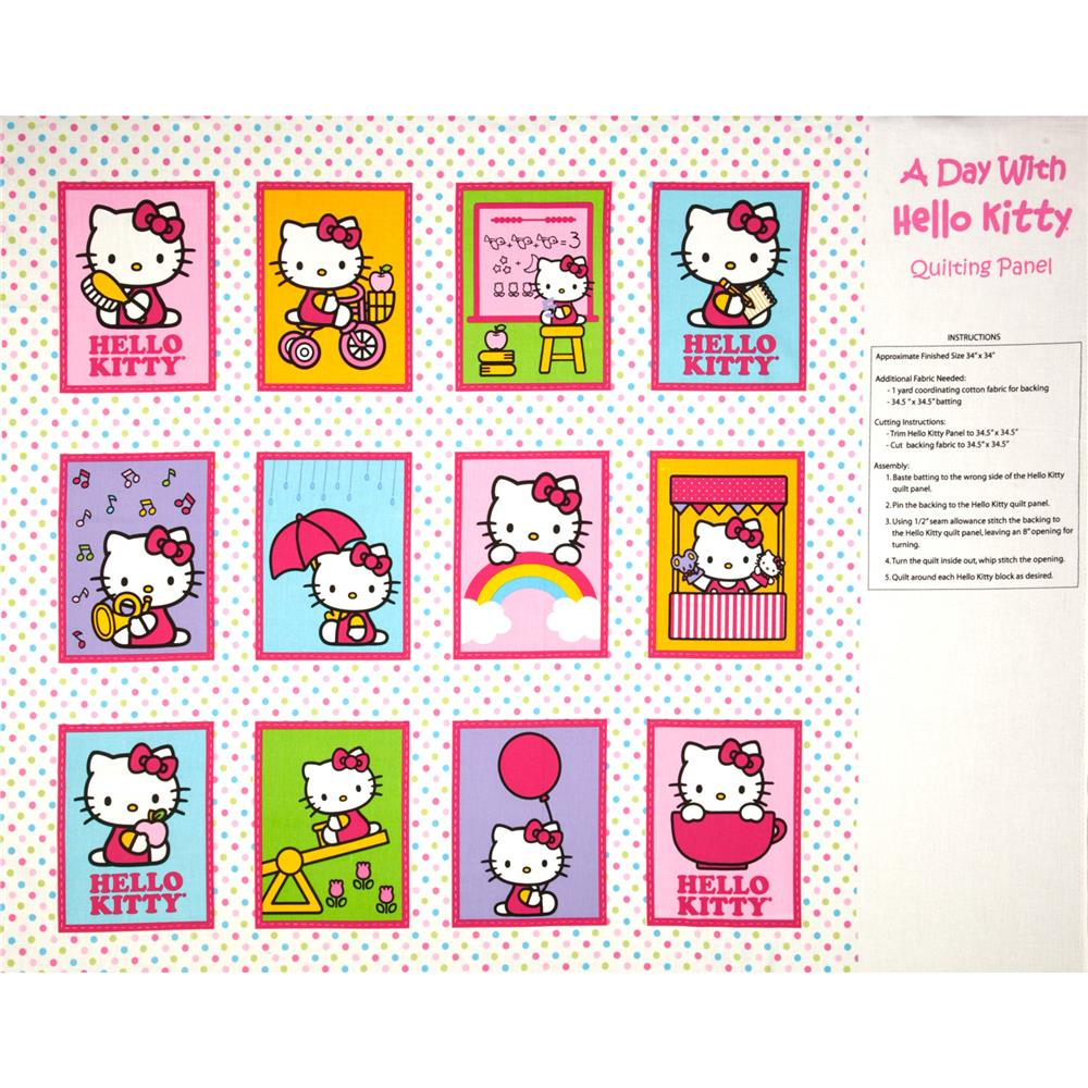 Hello Kitty Nursery Soft Book Panel Multi
