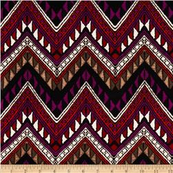 Picasso Rayon Poplin Chevron Purple/Multi