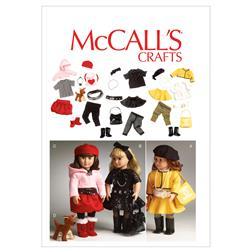 McCall's Clothes For 18' Doll, Accessories and Dog Pattern M6669 Size OSZ