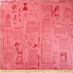 Riley Blake Vintage Happy Laminate Vintage Cloth Pink