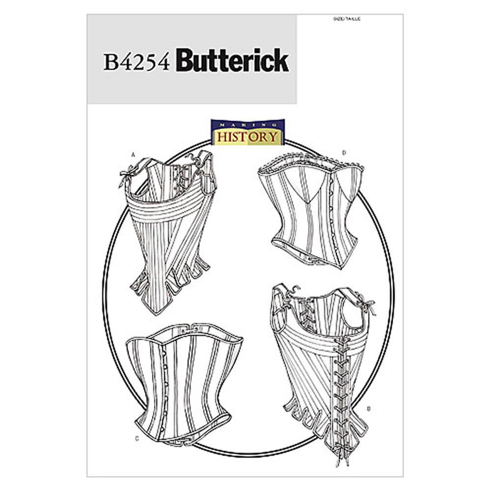 Butterick Misses' Stays and Corsets Pattern B4254 Size 060