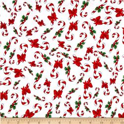 Loralie Designs Fairy Merry Christmas Candy Cane Crowd White