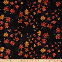 East Grove Metallic Spaced Leaves Black