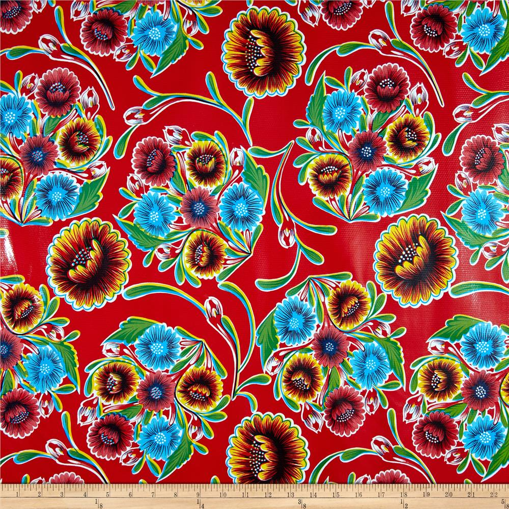 Oil Cloth Bloom Red