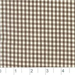 Woven 1/8 Gingham Chocolate Brown