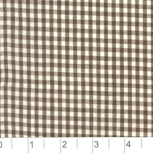 Woven 1/8 Gingham Chocolate Brown Fabric