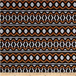 Techno Scuba Knit Aztec Black/Rust