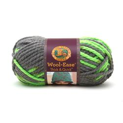 Lion Brand Wool Ease Thick & Quick Prints Yarn Parakeet