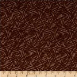 Timeless Treasures Flannel Spin Dot Brown