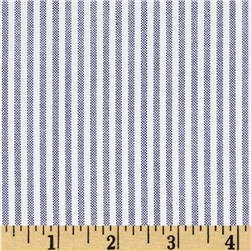 Kaufman Career Oxford Stripe Black Fabric