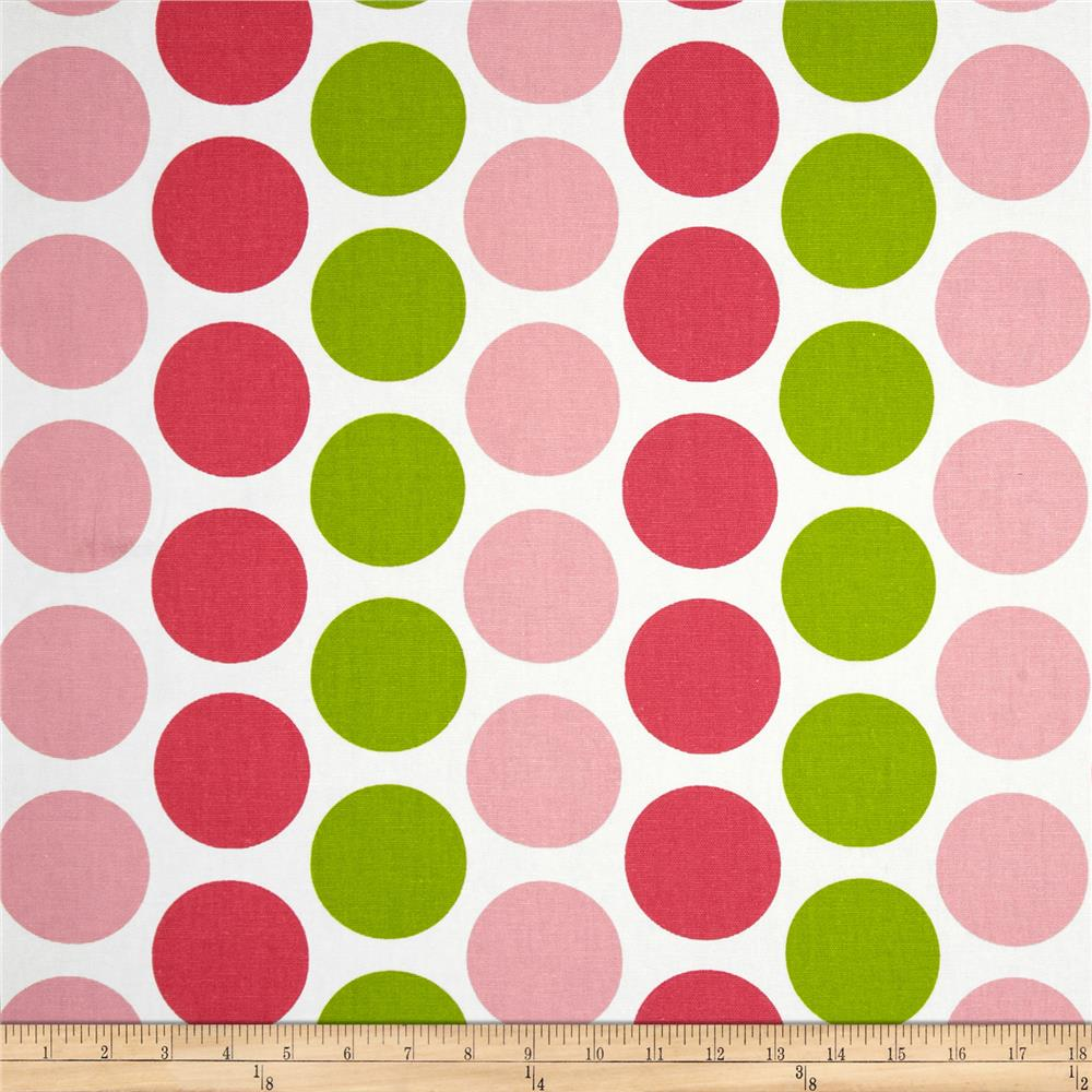 Premier Prints Fancy Dot Pink/Chartreuse