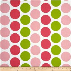 Premier Prints Fancy Dot Pink/Chartreuse Fabric