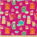 Kitchen Love Tea and Coffee Dark Pink