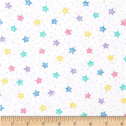 Comfy Flannel Stars White/Pastel