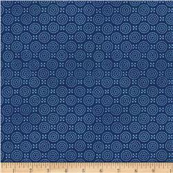 Indi-glow Dotted Circles Blue