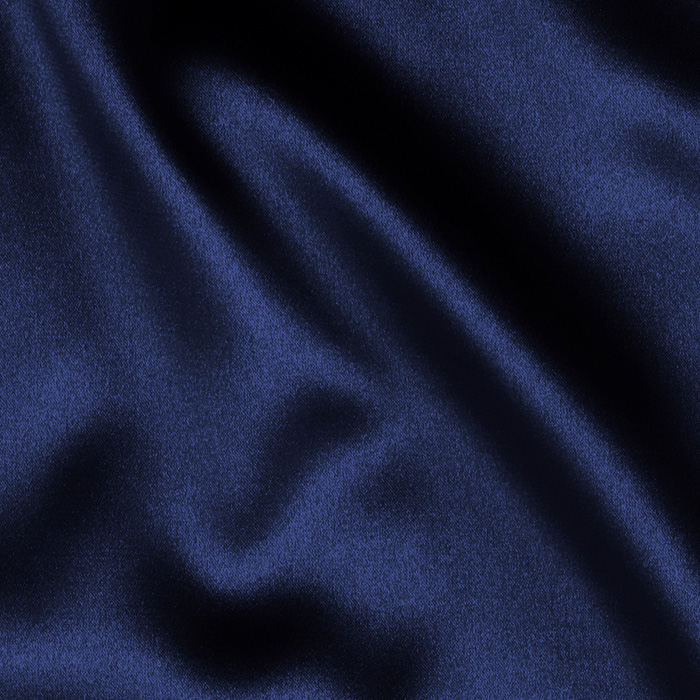 Tahari Stretch Satin Navy Fabric