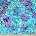 Cotton Jersey Knit Batik Floral Purple/Blue/Teal