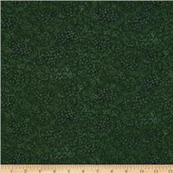 Essentials Leafy Scroll Medium Dark Green Fabric
