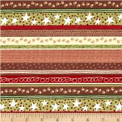 Woodland Christmas Stripe Multi