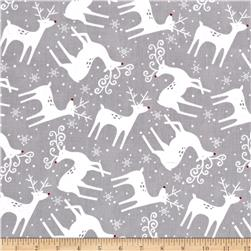 Alpine Reindeer Toss Gray