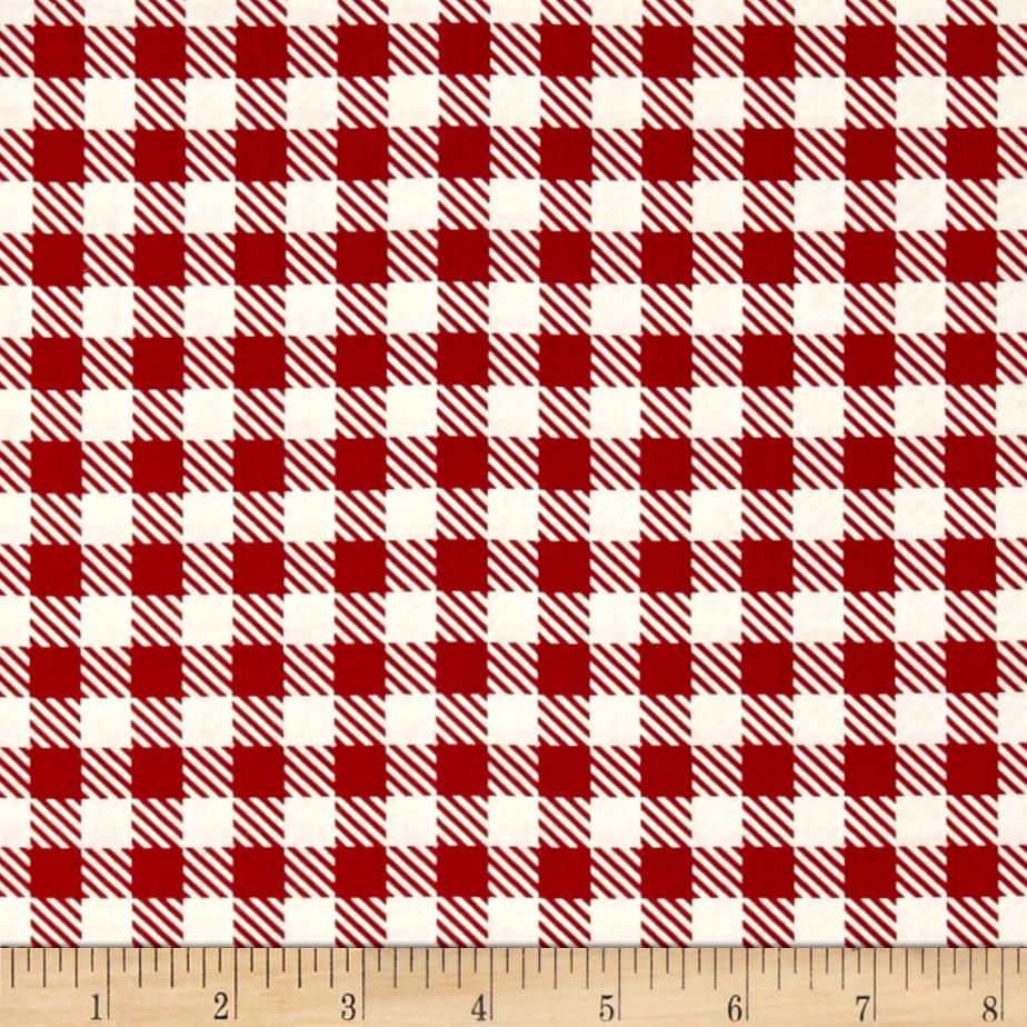 Moda Volume II Gingham Apple Red