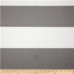 Premier Prints Indoor/Outdoor Cabana Stripe Grey Fabric
