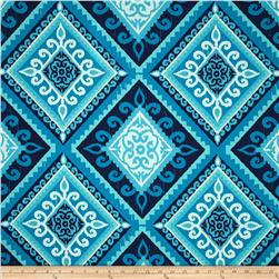 Terrasol Indoor/Outdoor Spanish Tile Indigo Fabric