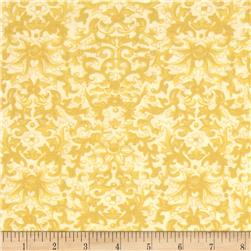 Rebecca's Rose Damask White/Yellow