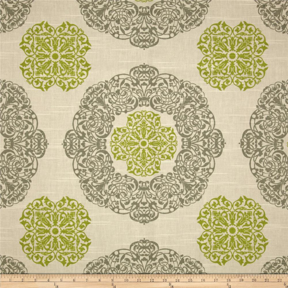 Duralee Home Soul Slub Natural/Green
