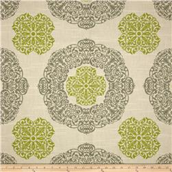 Duralee Home Soul Slub Natural/Green Fabric