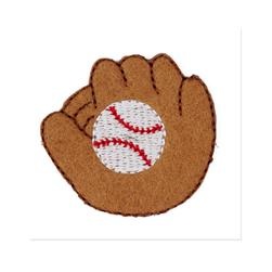 Boutique Applique Baseball Glove Tan/White/Red