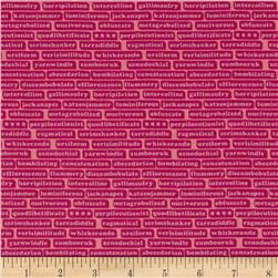 Thesaurus Word Stripe Pink