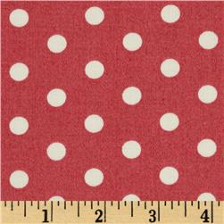 Tanya Whelan Petal Home Decor Sateen French Dots Rose