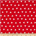 Robert Kaufman Remix Triangles Scatter Red