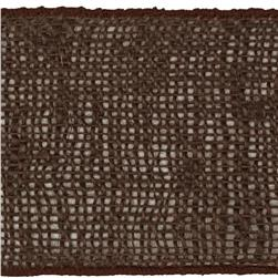 4'' Burlap Wired Ribbon Brown