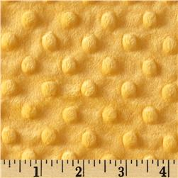 Minky Cuddle Dimple Dot Sunshine Fabric