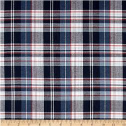 Kaufman Indigo Plaid Shirting Light Blue