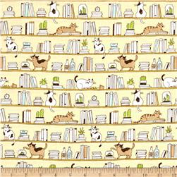 Cosmo Good Morning Cats & Books Yellow