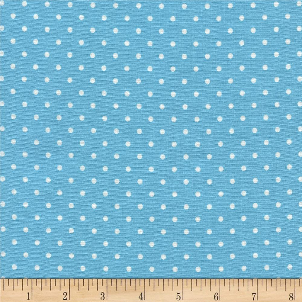 Timeless Treasures Polka Dots Aqua