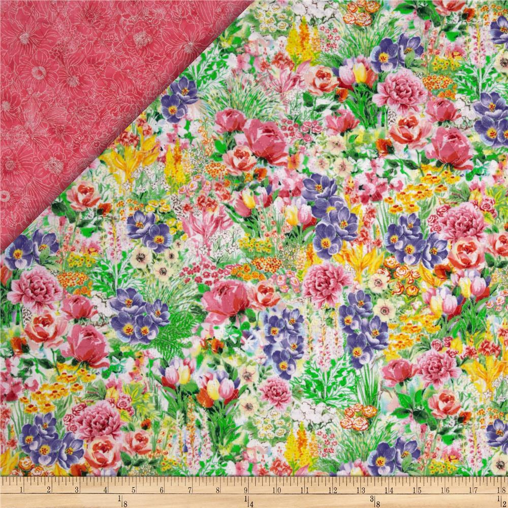 Garden Paradise Double Sided Quilted Floral Multi