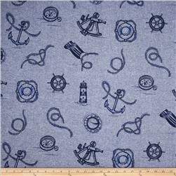 Kaufman Nautique Chambray Nautical Indigo