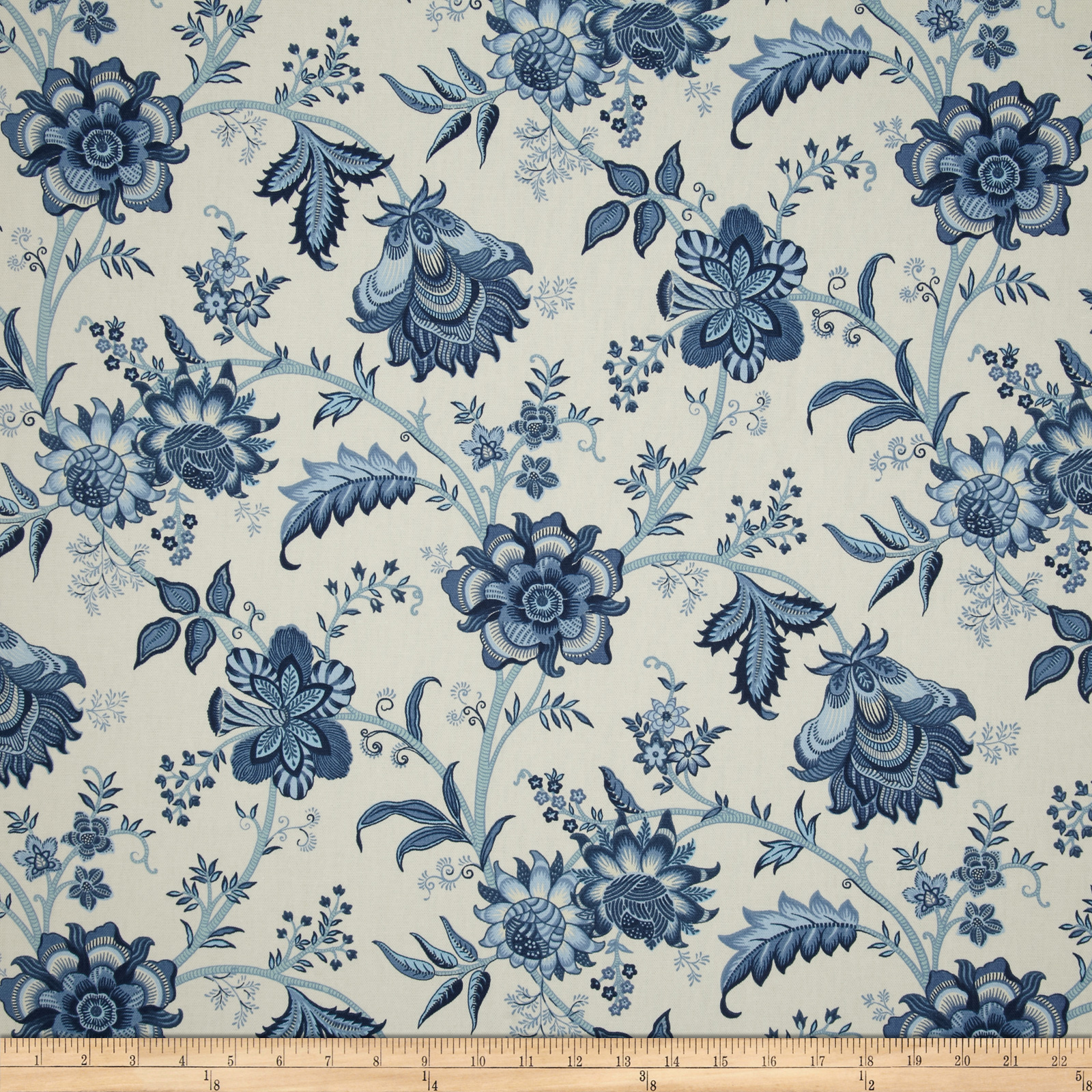 Waverly Island Gem Indigo Fabric