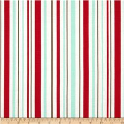 Riley Blake Primrose Garden Stripe Red Fabric